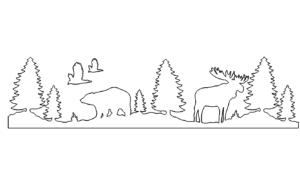Landschaft mit Tieren - Landscape with Animals