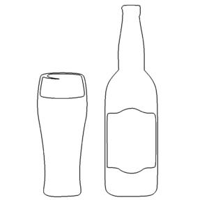 Glas und Flasche - Glas and Bottle