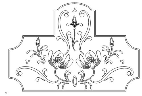 Trennwand mit Blumen - Partition with flowers