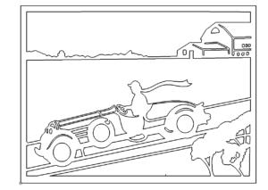 Bild mit einem Auto - Picture with a Car