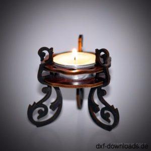 Teelichthalter 3D Modell - Tea Light Holder 3D Model