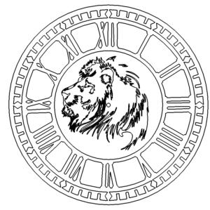 Römische Uhr mit Löwe - Roman clock with lion