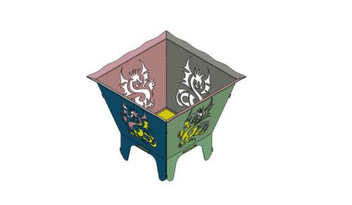 Drachen Feuerkorb - Dragon Fireplace