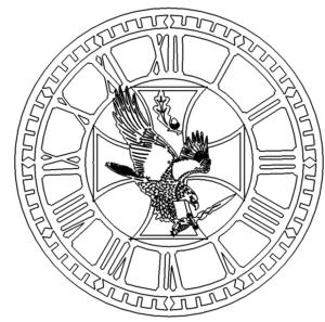 Uhr mit Adler - Clock with Eagle