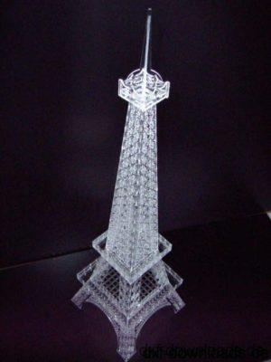 Eifelturm 3D Modell - Eiffel Tower 3D Model