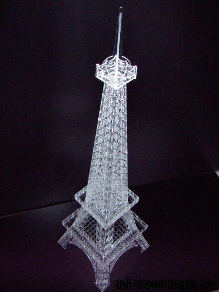 Eifelturm 3D Modell - Eiffel Tower 3D Model