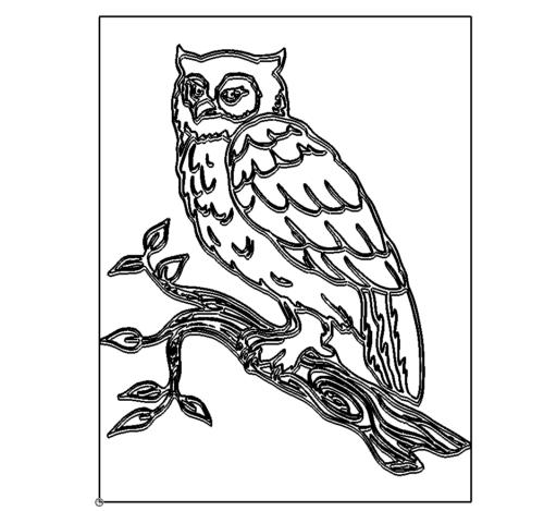 sehr aufwendige Eule - very elaborate owl