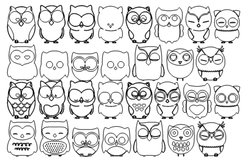 Paket mit Eulen - Package with Owl