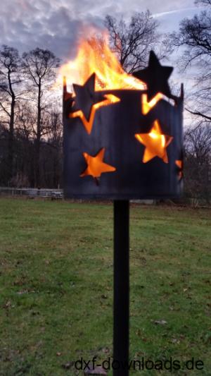 Fackel mit Sternen abgewickelt - Fire with Stars