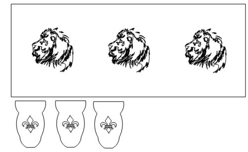 Feuerkorb mit Löwen - Fireplace with Lions