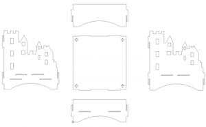Feuerstelle Burg 4mm Stahlblech - Fireplace