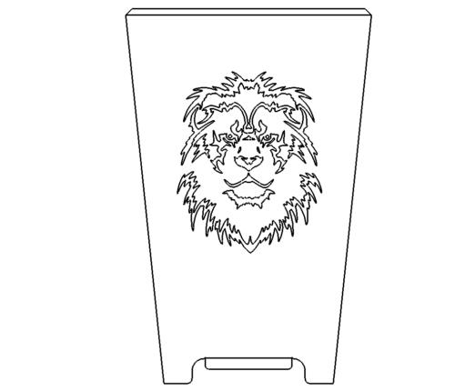 Feuertonne Loewenkopf - Fireplace with Lionhead