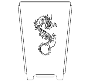 Feuertonne  Drache - Fireplace with Dragon