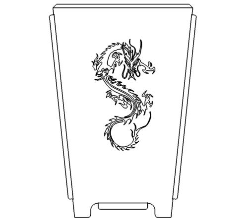 Feuertonne  Drache - Fireplace with Dragon