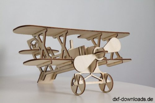 Flieger 3D Modell - Flyer 3D model