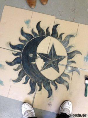 Wandschild Sonne, Mond, Sterne.dxf Sonne Mond Sterne - Sun Moon Stars