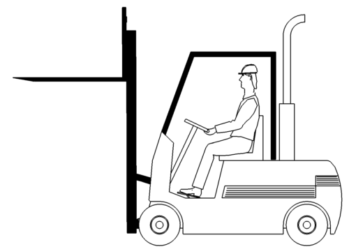 Gabelstapler Zinken oben - Forklift tines up