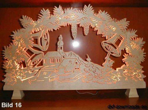 Weihnachten Wandbild Glocken - Christmas mural bells