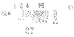 vesch. Hausnummern - div. Housenumbers