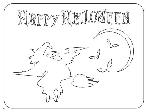 Schild Halloween - Sign Halloween