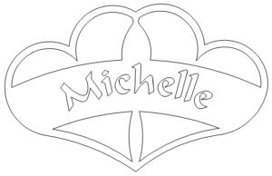 Herze mit Namen - Hearts 2 Michelle