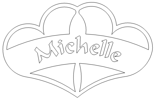 Herze mit Namen - Hearts 2 Michelle