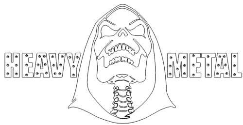 Heavy Metal mit Totenkopf