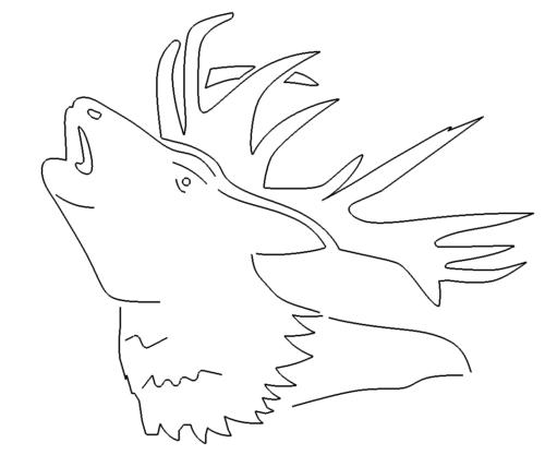 Hirschkopf - Deer head