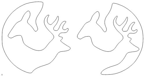 Hirsch und Reh - Deer and fawn