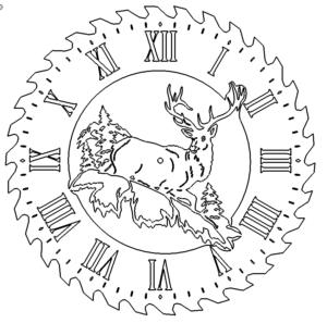 Hirsch Uhr - Deer Clock
