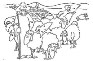 Hirten und Schafe - Shepherds and sheep