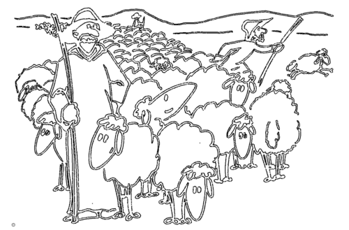 Hirten und Schafe - Shepherds and sheep
