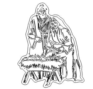 Jesus - Maria - Krippe