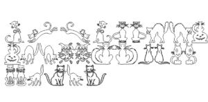 Paket mit Katzen - Package with Cats