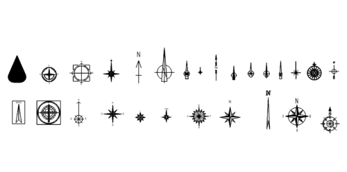 Kompass Symbole - compass symbols