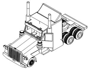 LKW 3D Zeichnung - Truck 3D drawing