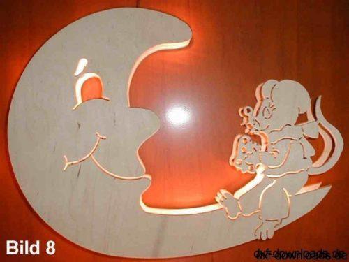 Wandbild Maus mit Mond - Mural mouse with moon