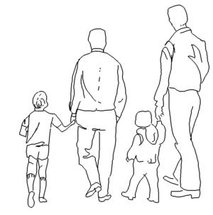 2 Väter mit Kinder - 2 fathers with children