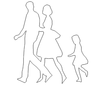 Familie mit Kind - Family with child