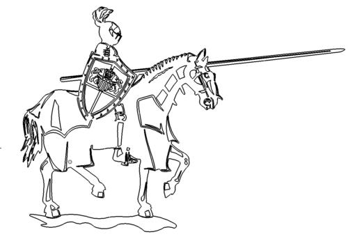 Mittelalterlicher Ritter - Medieval knight