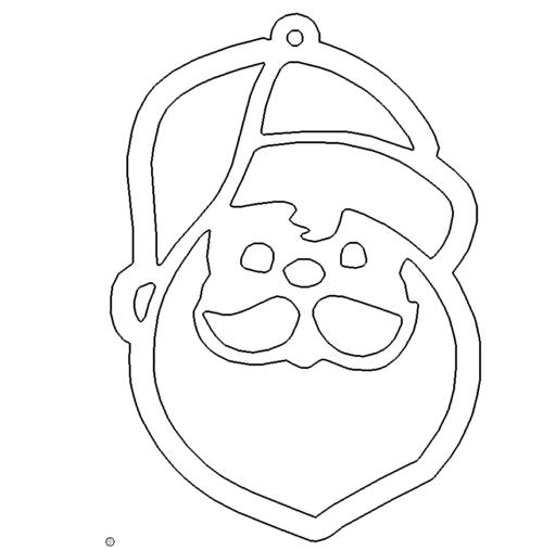 Nikolaus Anhänger - Santa Clause