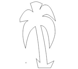 einfache Palme - simple palm
