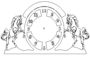 Pferde Uhr - Horse Clock