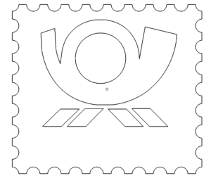 Posthorn Mit Umrandung - Posthorn with border