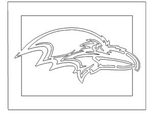 Rabe eingerahmt - Raven framed