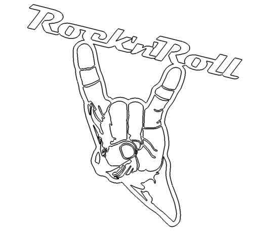 Rock And Roll Dxf
