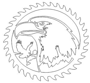Sägeblatt mit Adler - Sawblade with eagle