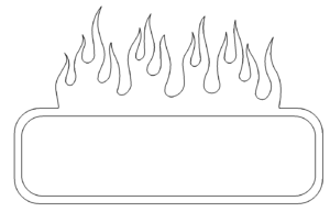 Bilderrahmen Feuer - Picture Frames fire
