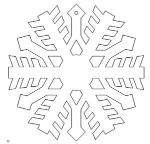 Schneeflocke - snowflake