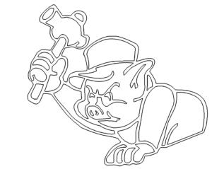 Schwein mit Hammer - Pig with hammer